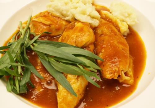 Tarragon Chicken with White Wine Tomato Sauce