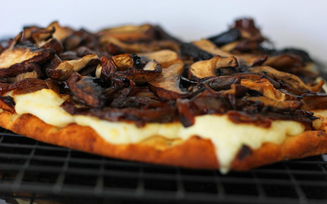 Mushroom and Caramelized Onion Pizza