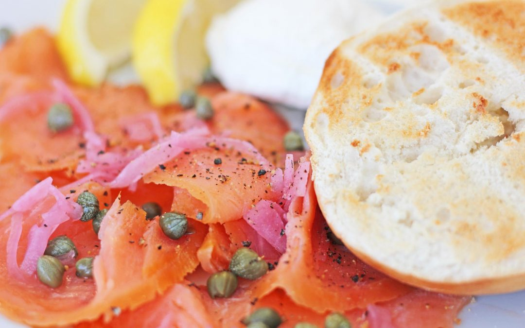 Smoked Salmon and Toasted Bagels