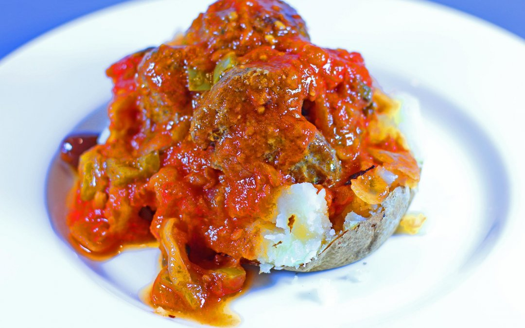 Meat Balls and Baked Potato…Really?