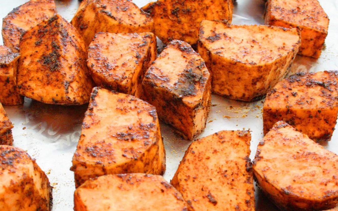 Garam Masala Blackened Sweet Potato