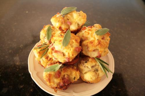 Josie's Savory Mini Muffins with Two Flavorings