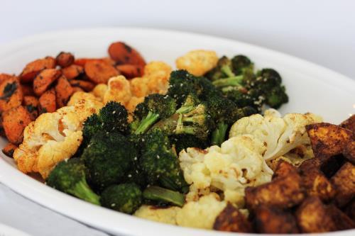 Spiced and Seasoned Roasted Veggie Platter