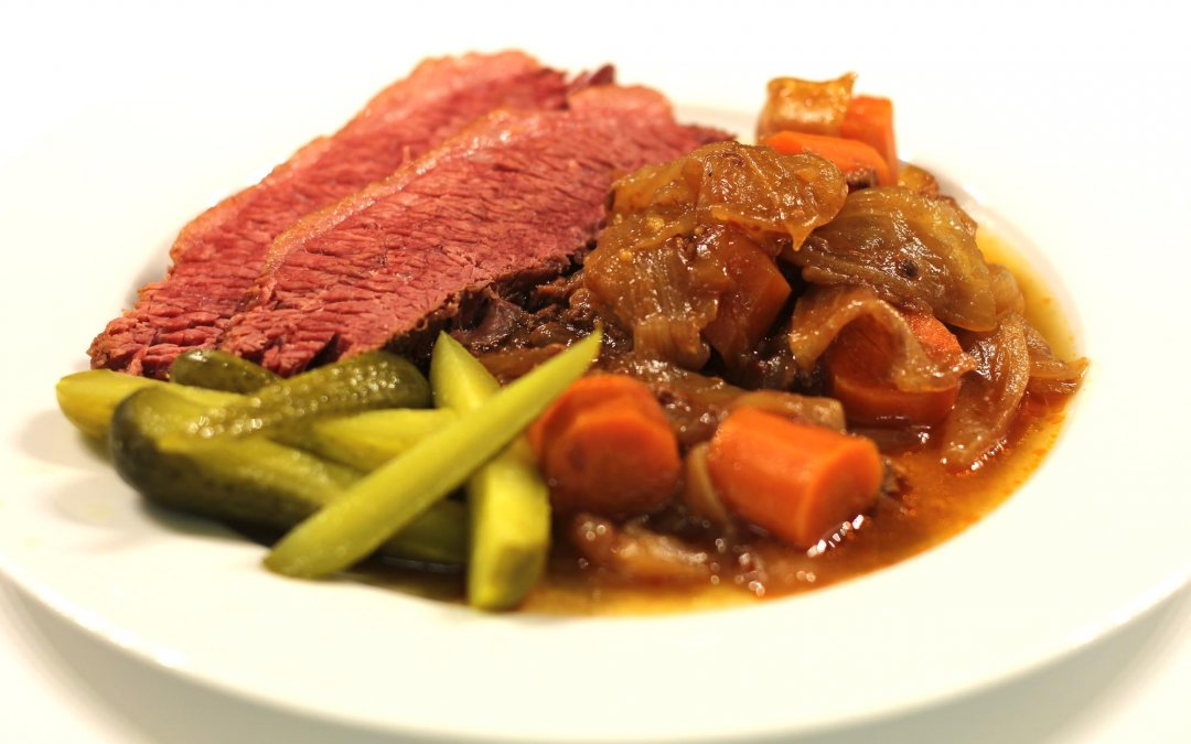 Corned Beef, Potatoes and Pickles