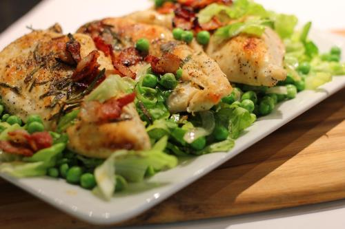 Golden Pan Seared Rosemary Chicken