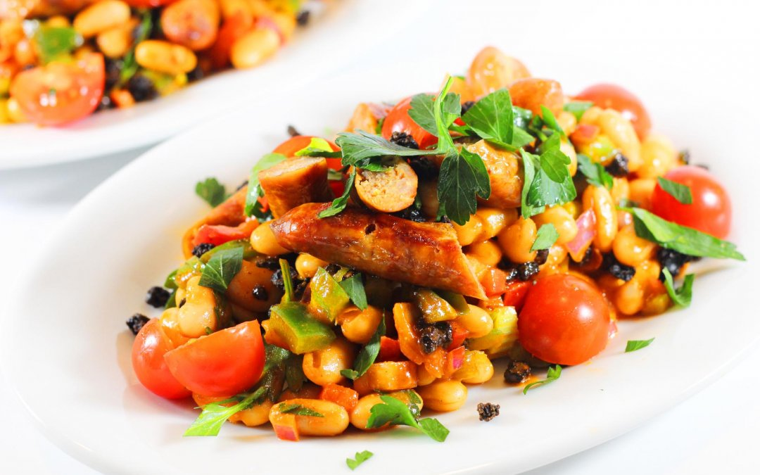 White Bean, Peppers and Sausage Salad