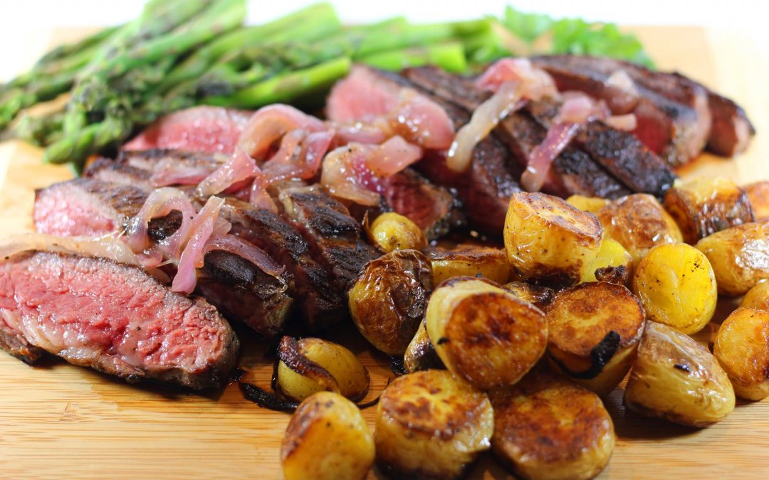 Pan Seared Tri Tip Steak and Red Onion Jam