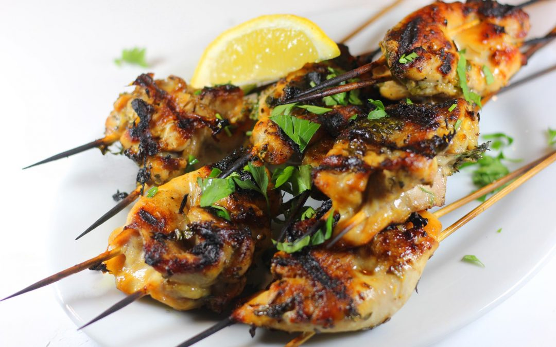 Grilled Chicken Brochettes