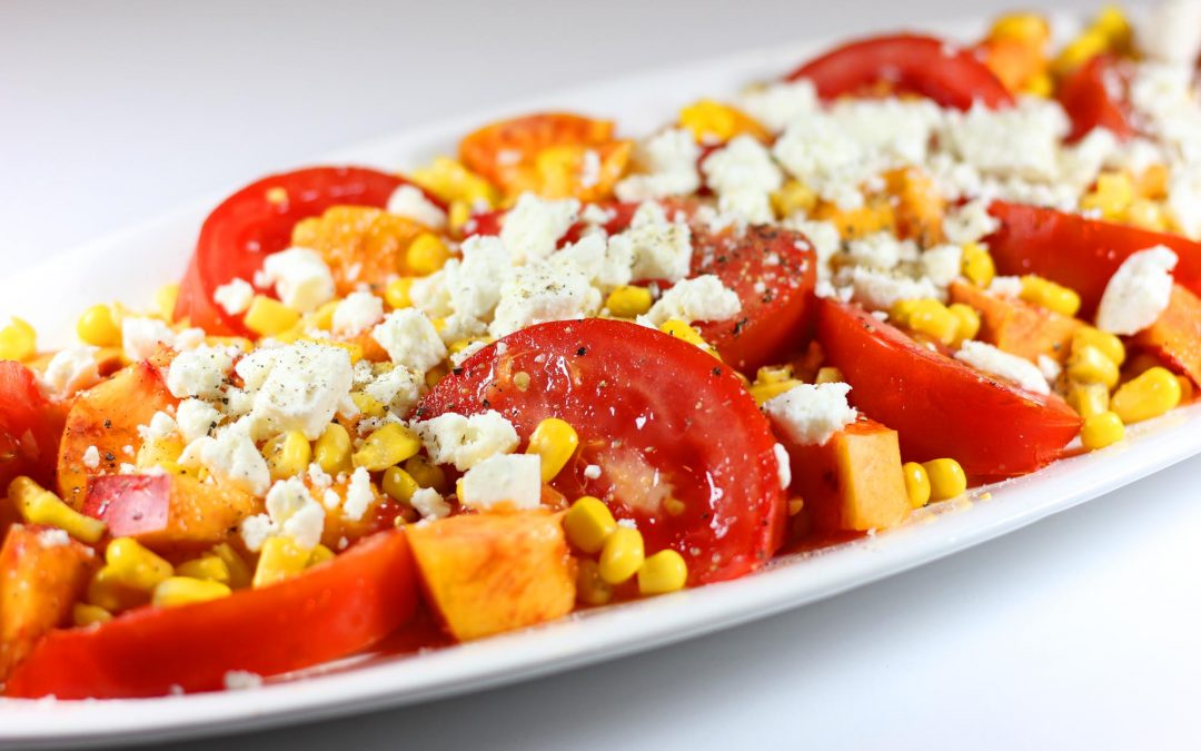 Nectarine, Tomato and Corn Salad