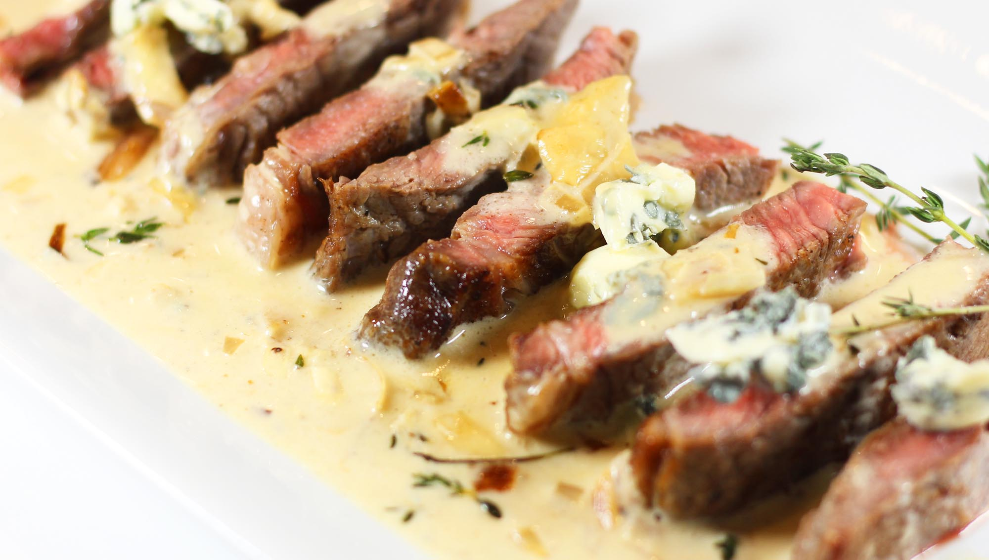 steak blue cheese garlic cream