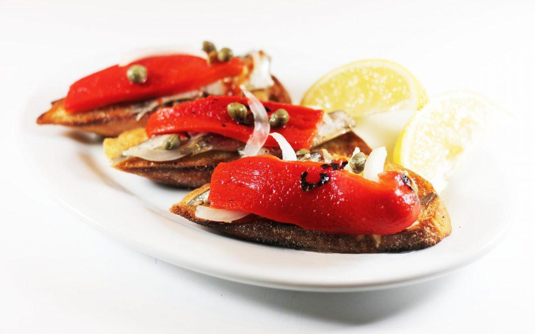Piquillo Peppers and Sardine Tartines