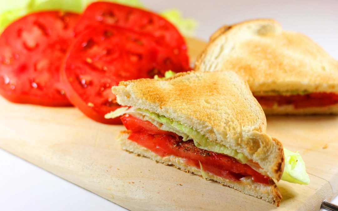 Amazing Tomato, Mayo and Lettuce Sandwiches…
