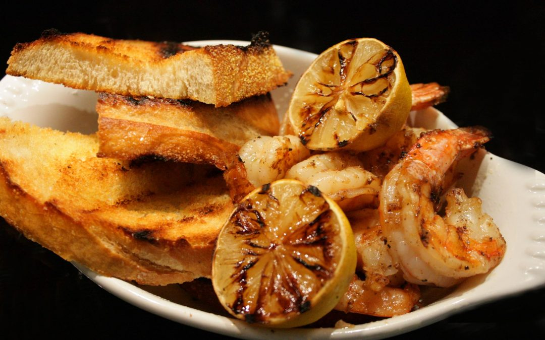 Grilled Shrimp with Old Bay and Garlic Aioli