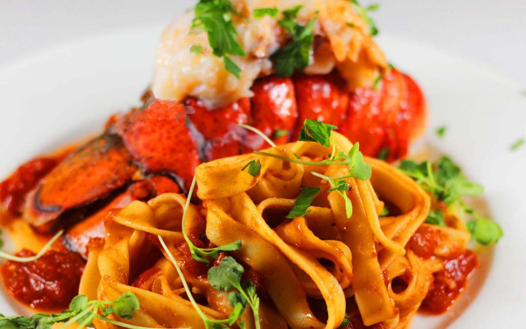 Lobster Tail with Bloody Mary Linguini