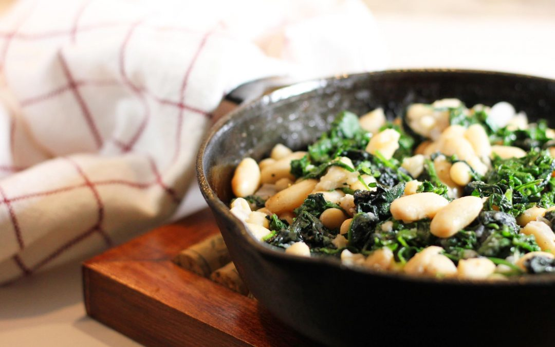 White Cannellini Beans, Spinach, Rosemary, Garlic and Lemon