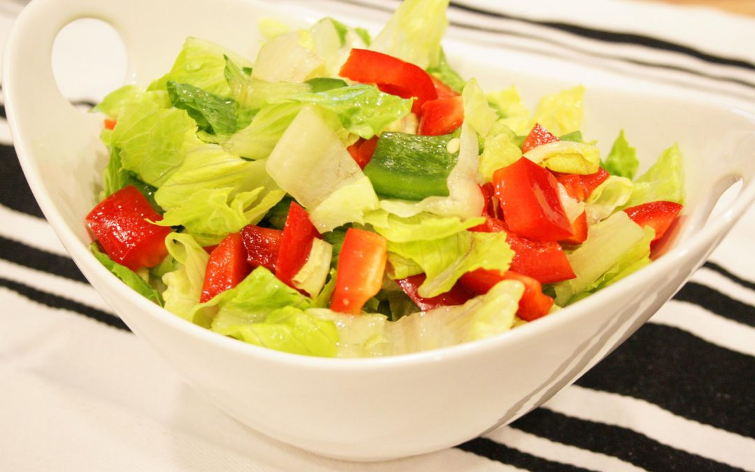 Romaine and Bell Pepper Salad