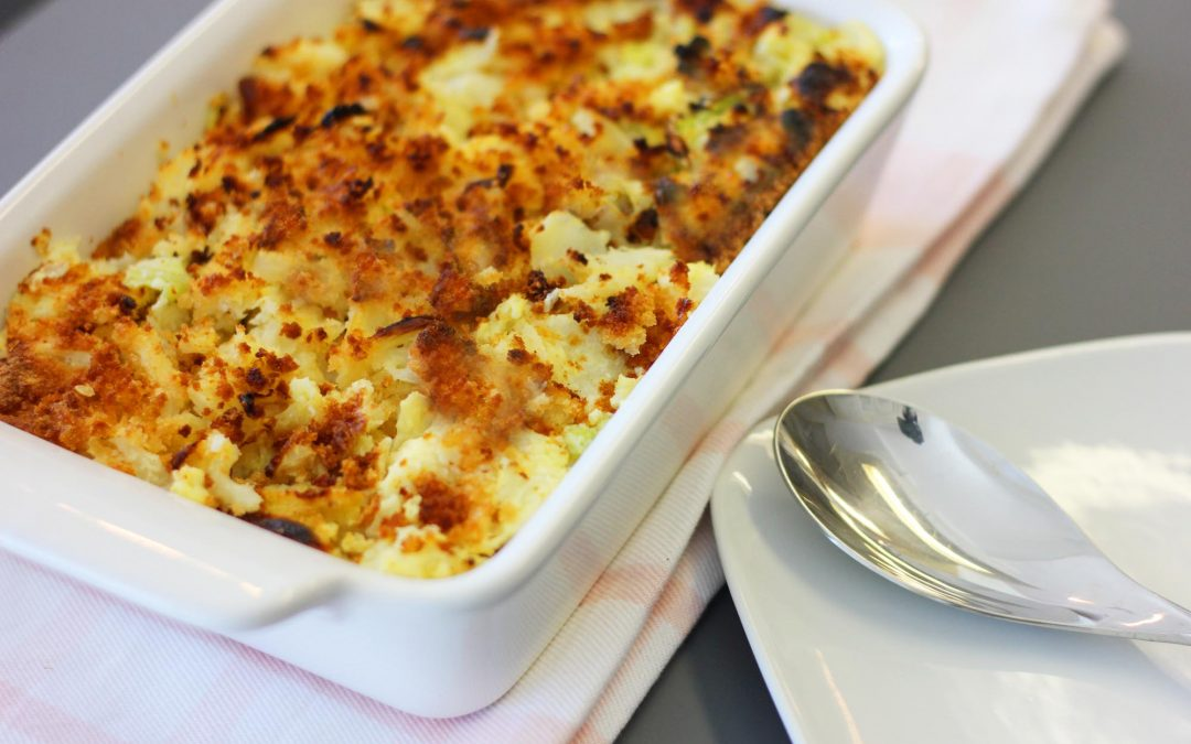 Savoy and Cauliflower Gratin