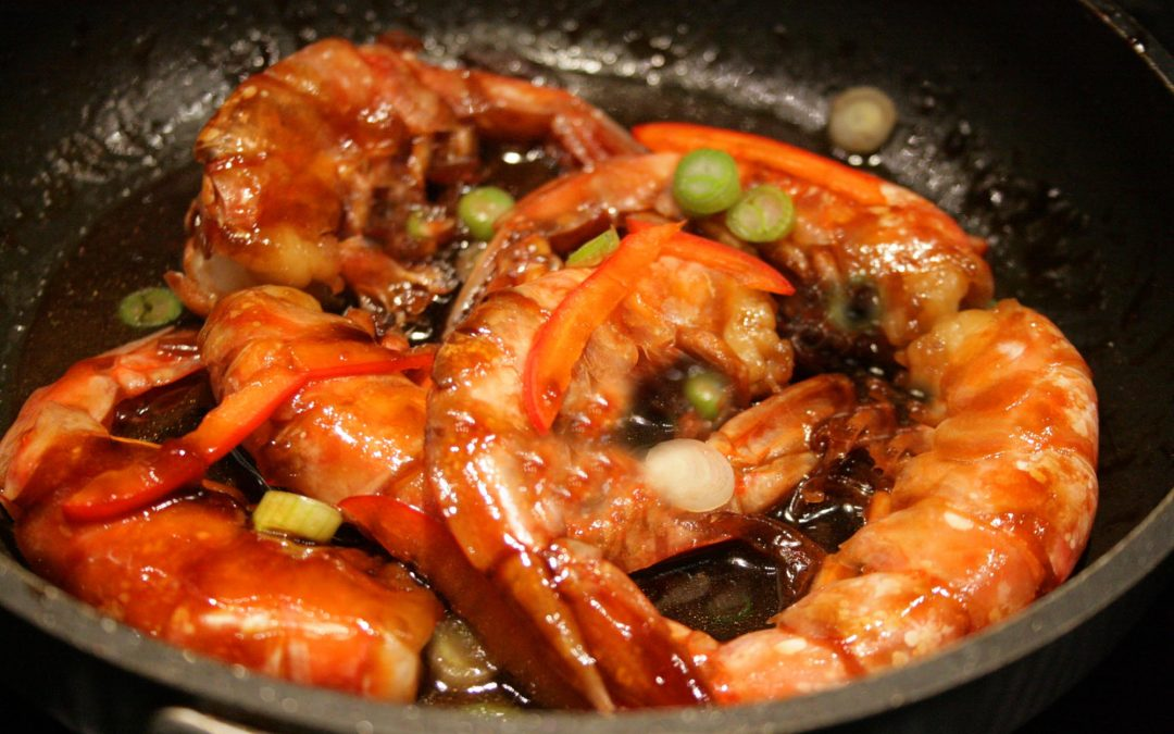 King Prawns with Soy Sauce